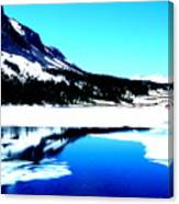 Shiny Snow Magic On Lake Canvas Print