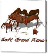 Soft Grand Piano  Canvas Print