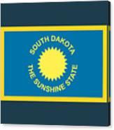 South Dakota Flag Canvas Print