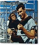 Space: Chimpanzee, 1961 Canvas Print