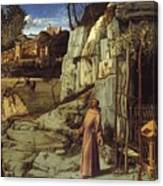 St. Francis In The Desert Canvas Print