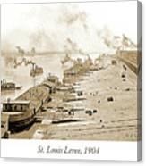 St. Louis Levee, 1904 Canvas Print