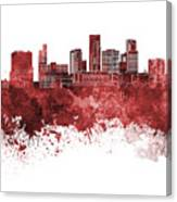 St. Paul Skyline In Watercolor Background Canvas Print