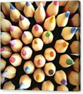 Stack Of Colored Pencils Canvas Print