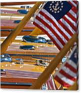 Stars And Stripes On The Water Canvas Print