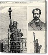 Statue Of Liberty, 1885 Canvas Print