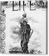 Statue Of Liberty Cartoon Canvas Print