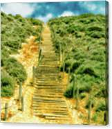 Steps To The Beach Canvas Print