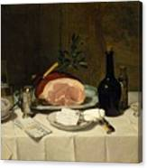 Still Life With Ham Canvas Print