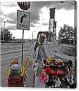 Street Jester Canvas Print