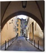 Streets Of Brescia Canvas Print