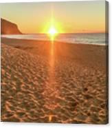 Sunrise Beach Seascape Canvas Print
