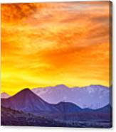 Sunrise Over Colorado Rocky Mountains Canvas Print