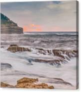Sunrise Seascape And Headland Canvas Print