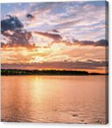 Sunset Over The Bay.......... Canvas Print