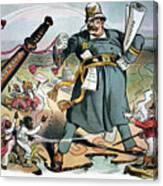 T. Roosevelt Cartoon Canvas Print
