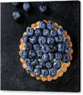 Tartlet With Blueberries Canvas Print