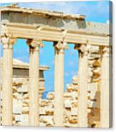 Temple Of Athena Nike In Greece Canvas Print