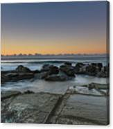 Tessellated Rock Platform And Seascape Canvas Print