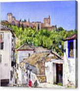 The Alhambra From The Albaicin Canvas Print