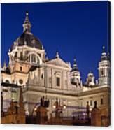 The Almudena Cathedral Canvas Print