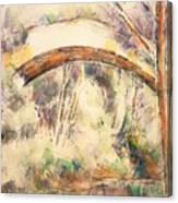 The Bridge Of Trois - Sautets Canvas Print