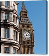 The Clock Tower In London Canvas Print