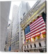 The Facade Of The New York Stock Canvas Print