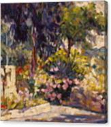The Flowered Terrace Canvas Print