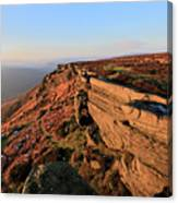 The Gritstone Rock Formations On Stanage Edge Canvas Print
