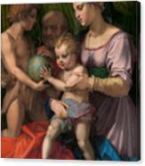 The Holy Family With The Young Saint John The Baptist Canvas Print