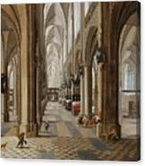 The Interior Of The Onze Lieve Vrouwekerk In Antwerp Canvas Print