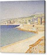 The Jetty At Cassis Opus 198 Canvas Print
