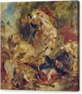 The Lion Hunt Canvas Print