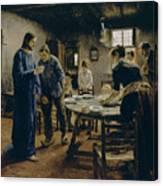 The Mealtime Prayer Canvas Print