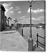 The Promenade At Barton Marina Canvas Print
