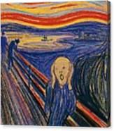 The Scream Ver 1895 Edvard Munch Canvas Print