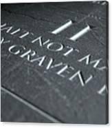 The Second Commandment Canvas Print