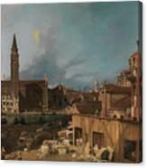 The Stonemason's Yard Canvas Print
