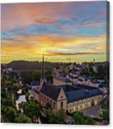 The Superb View Of The Grund, Luxembourg Canvas Print
