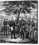 The Surrender Of General Lee Canvas Print