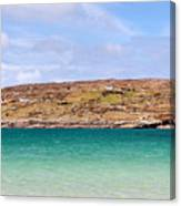 The Turquoise Water Of Dogs Bay Ireland Canvas Print