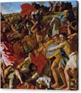 The Victory Of Joshua Over The Amalekites Canvas Print