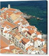 The View From The Rocca De Cefalu Canvas Print