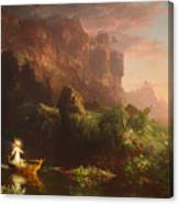 The Voyage Of Life - Childhood Canvas Print