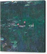 The Water Lilies, Green Reflections Canvas Print