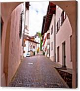 Town Of Kastelruth Street View Canvas Print