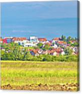 Town Of Vrbovec Landscape And Architecture Canvas Print