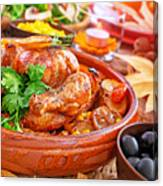 Traditional Thanksgiving Day Dinner Canvas Print