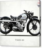 Triumph Tiger 80 1937 Canvas Print